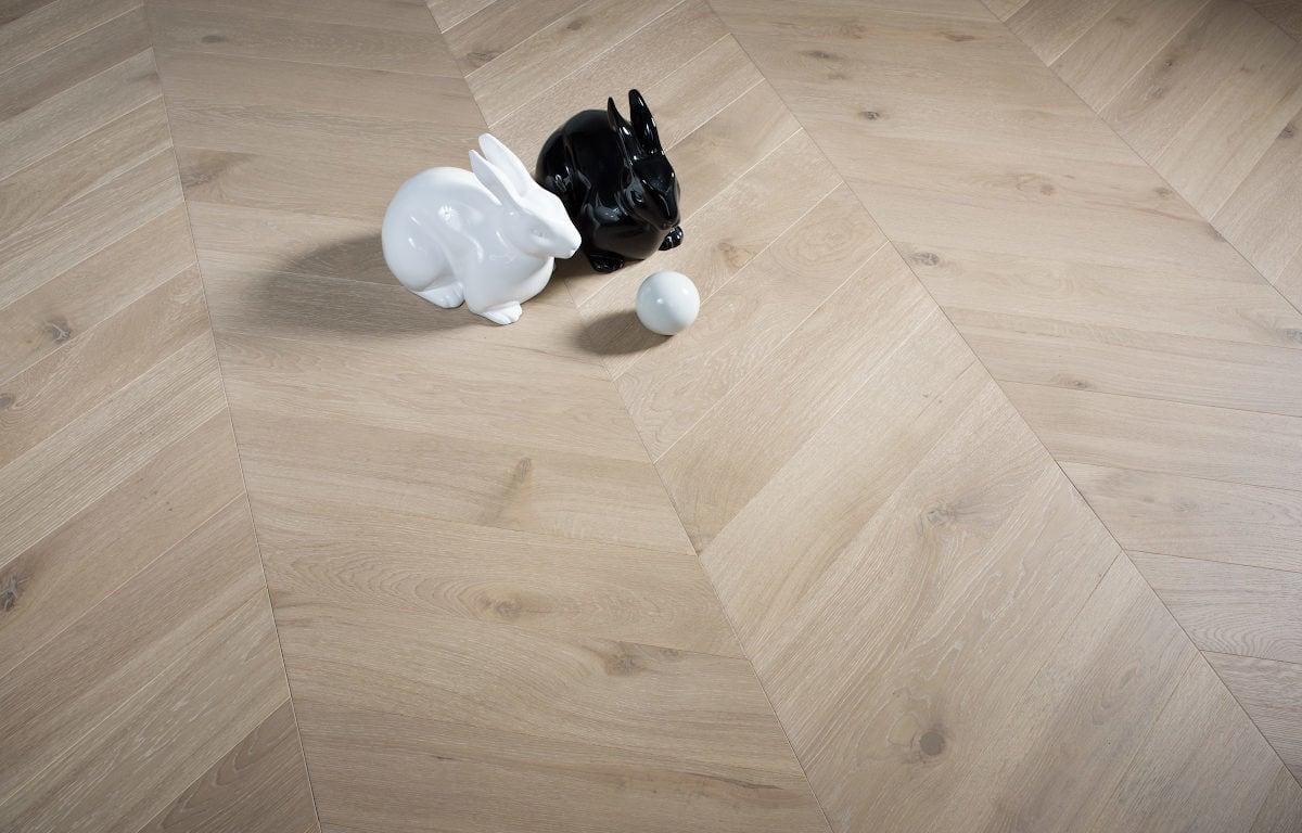 Bonnard chevron oak grey wood flooring