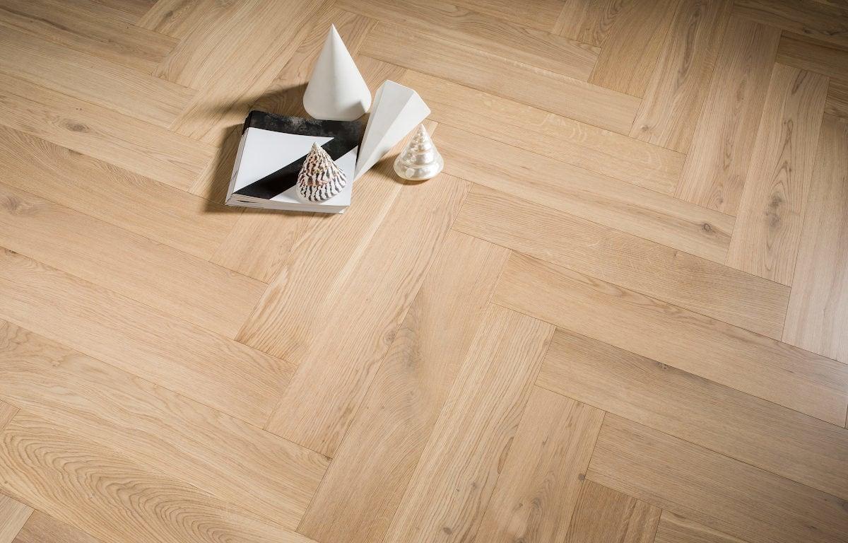 Bonnard herringbone oak flax