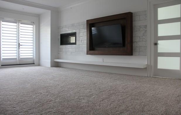 Carpet flooring family room