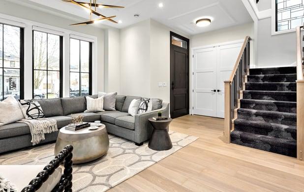 Engineered hardwood living room