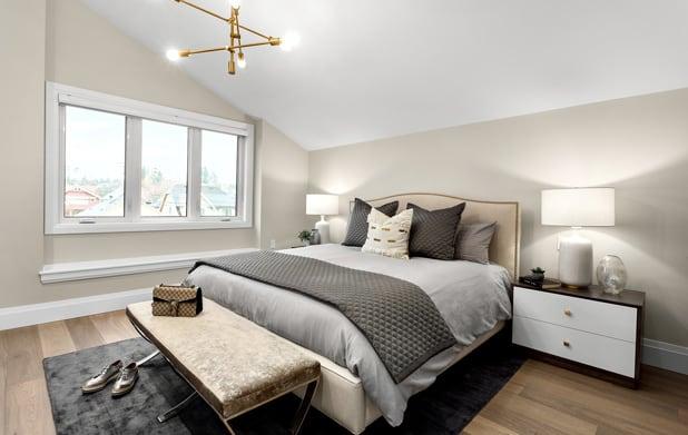 Engineered hardwood bedroom