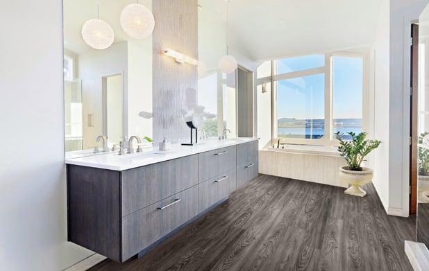 Vinyl flooring bathroom