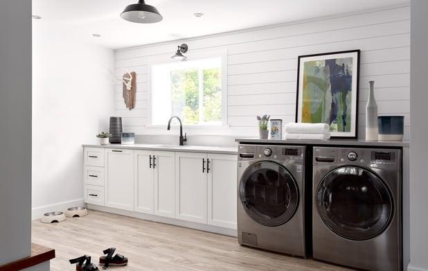 Vinyl flooring laundry room