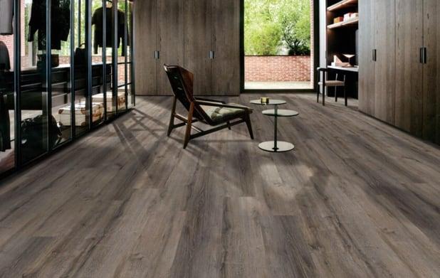 Vinyl flooring family room